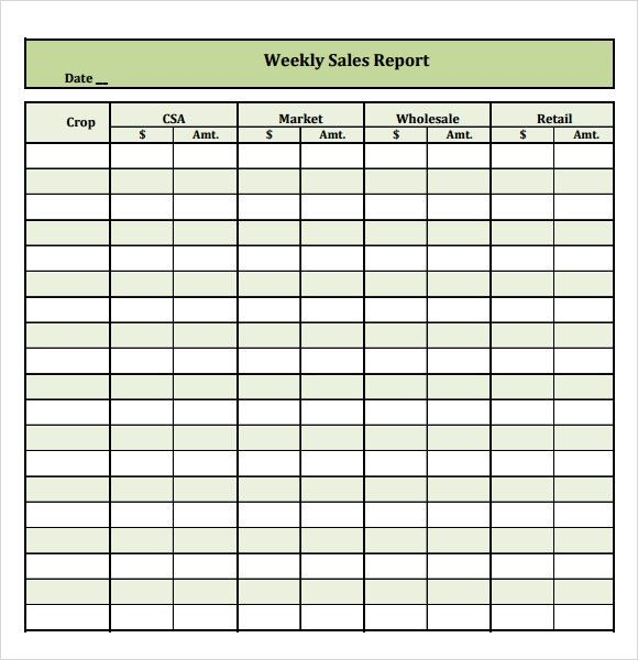 6 Free Sales Report Templates - Excel PDF Formats
