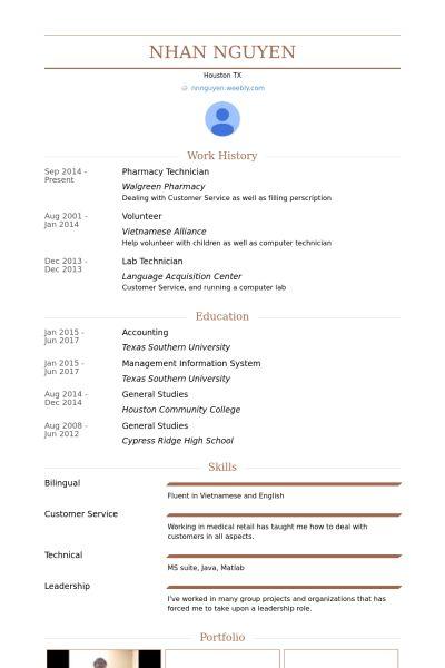 Pharmacy Technician Resume samples - VisualCV resume samples database