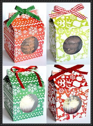 Gift Box Papercrafts Free Templates Download