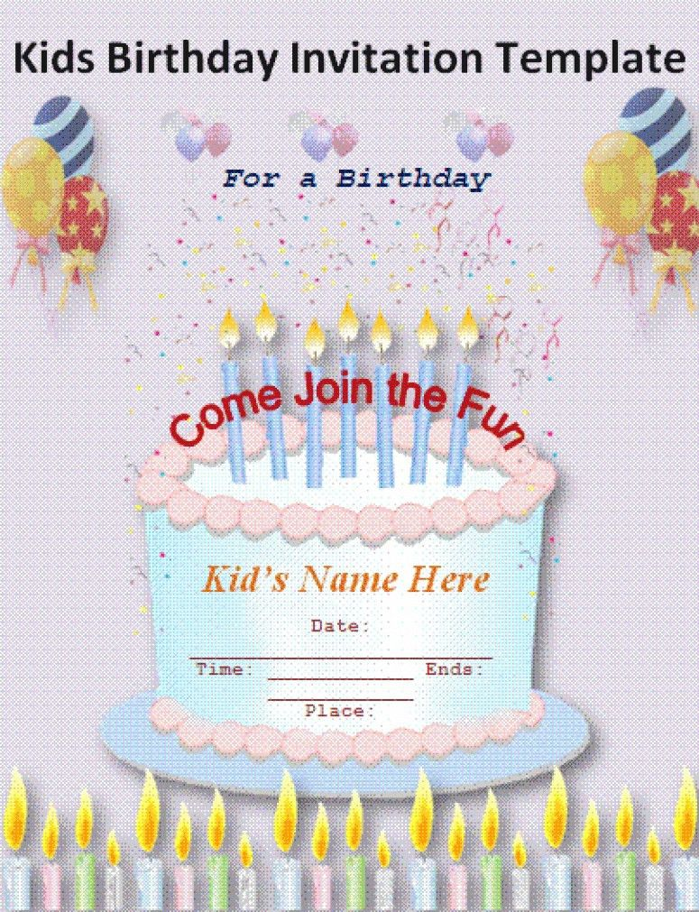 Fresh Birthday Invitation Card Template Free Download DF6I5 ...