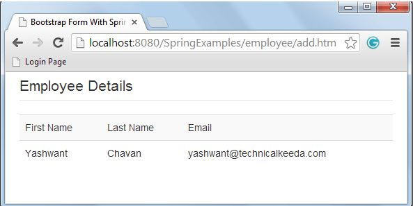 Integration of Twitter Bootstrap Form and Spring MVC Framewok