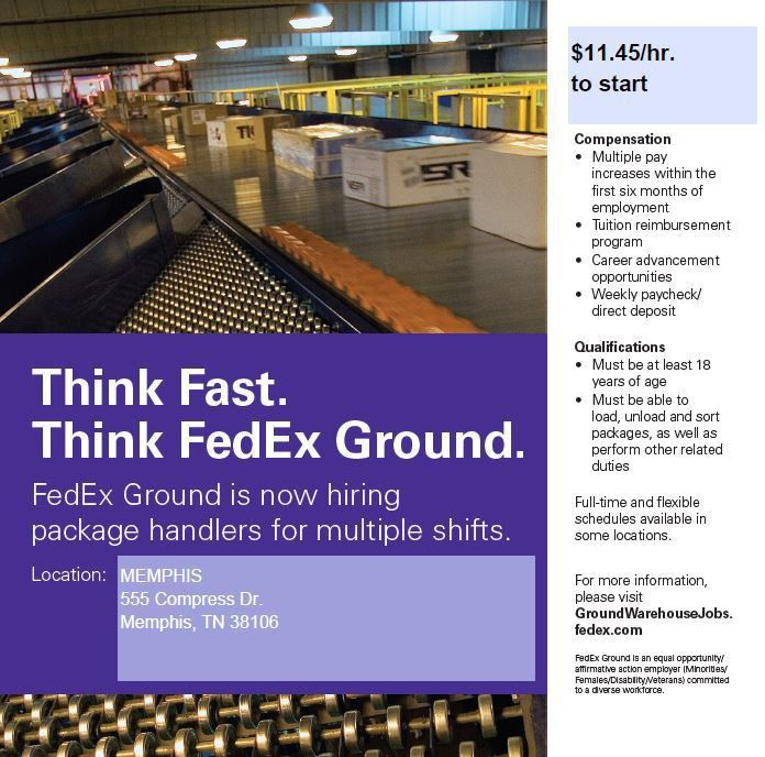 FedEx Ground Hiring Package Handlers for Multiple Shifts | Job ...
