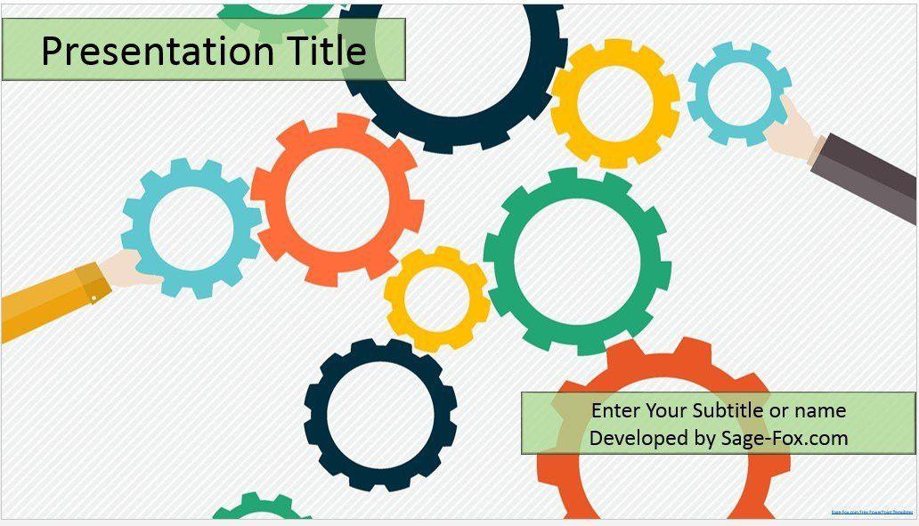 Gears PowerPoint Template #4473, Free Gears PowerPoint Template by ...
