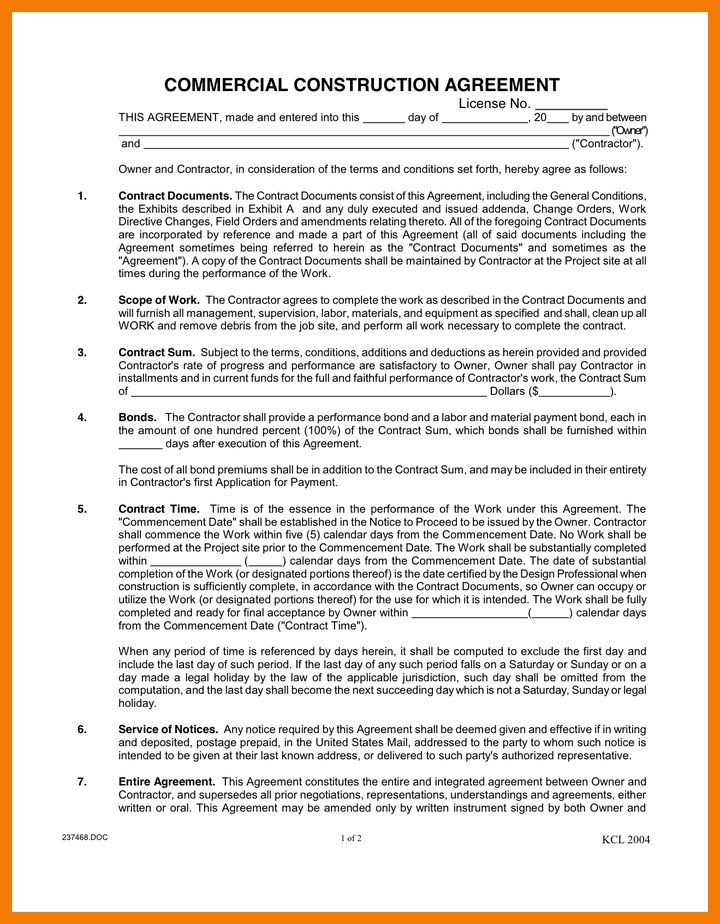 8+ commercial contract sample | resume holder