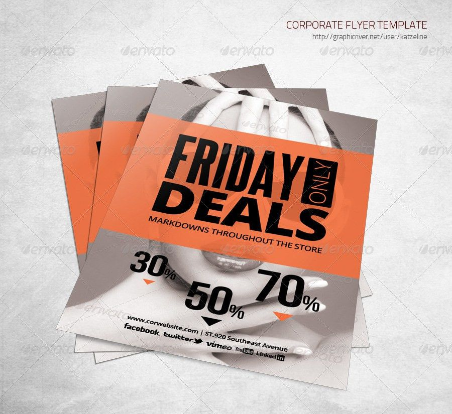 Store Sale Flyer Template by katzeline | GraphicRiver