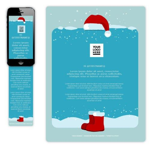 Free Xmas Email Templates | Wired Marketing