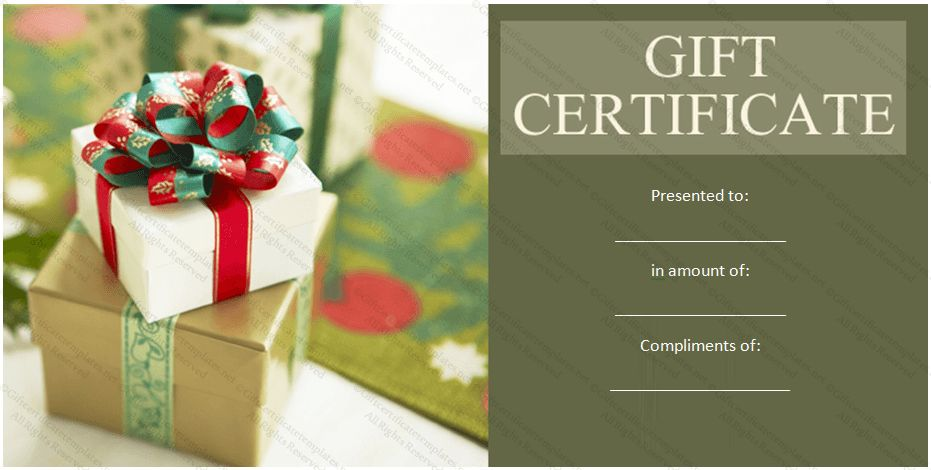 Free printable birthday gift certificate template