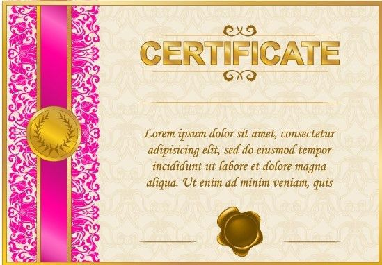 Excellent certificate and diploma template design Free vector in ...