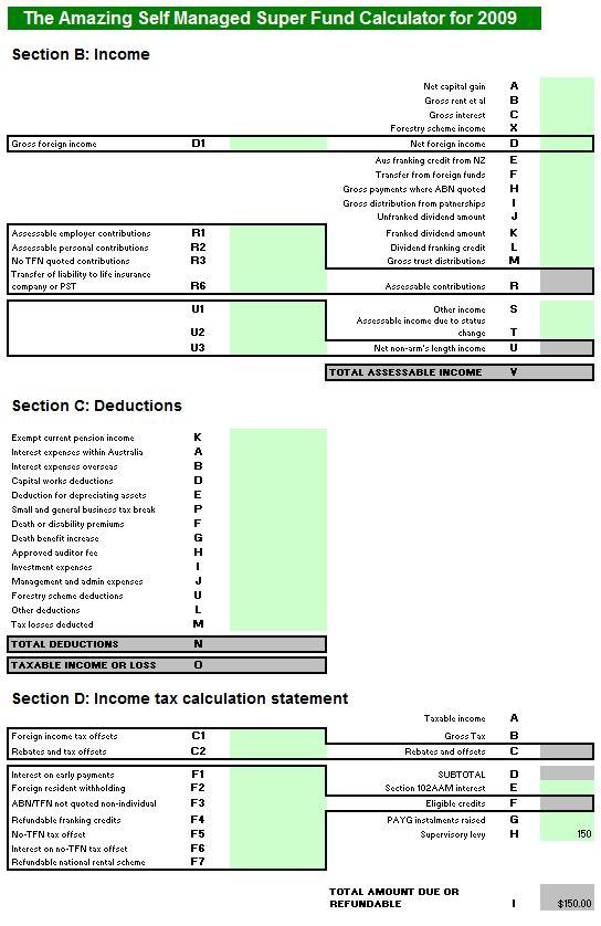 Self Managed Super Fund (SMSF) Tax Return