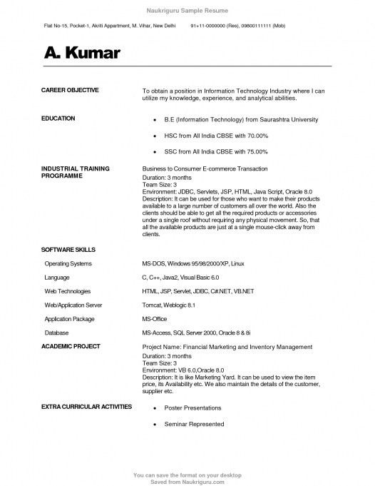 Example Resume What Is An Objective For A Executive With 17 ...