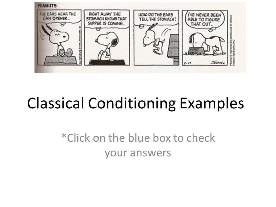Classical Conditioning Examples - ppt download