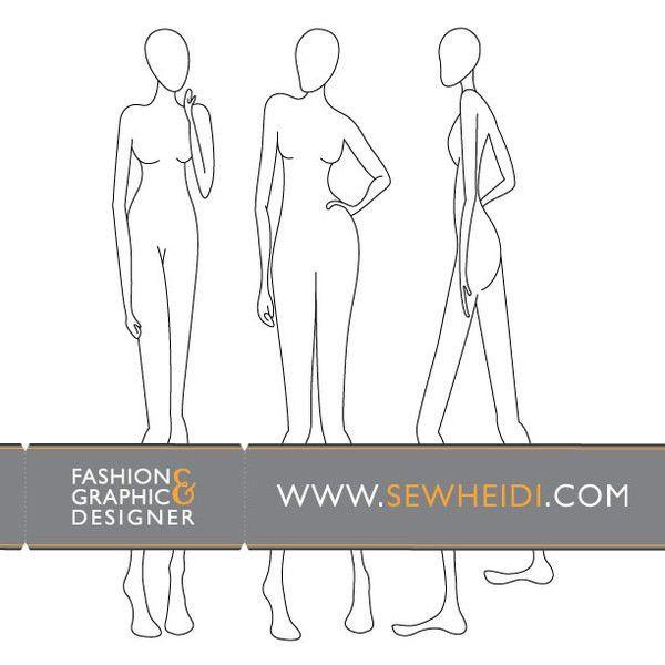 Female Fashion Croquis / Blank Fashion Sketches vector, free ...