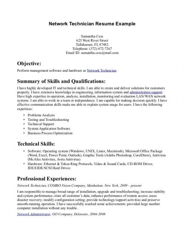 Pharmacy Technician Resume Objective | berathen.Com