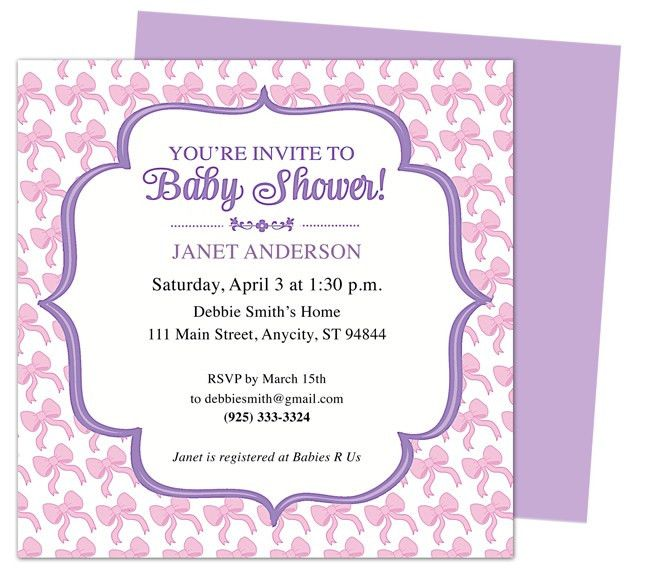 Baby Shower Invitations Templates For Word | THERUNTIME.COM