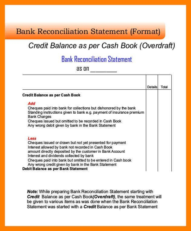 5+ bank reconciliation form | article examples
