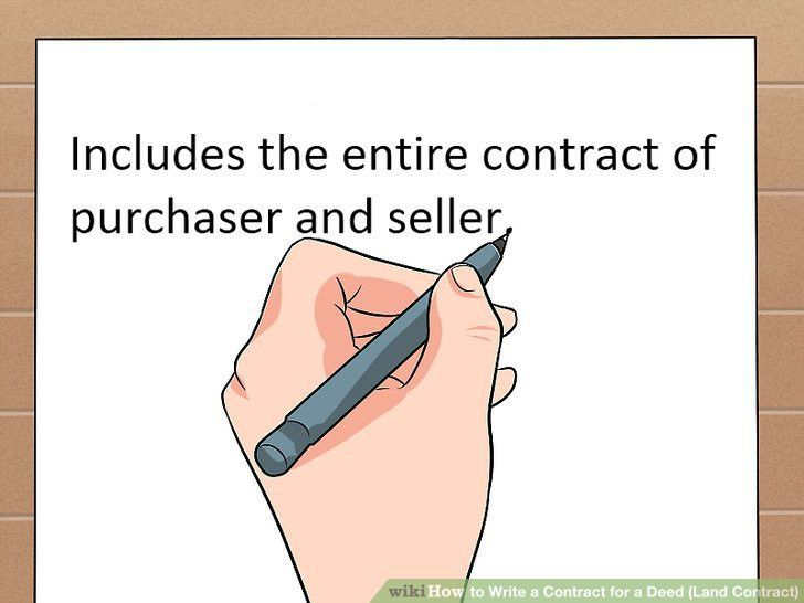 How to Write a Contract for a Deed (with Free Sample Contract)