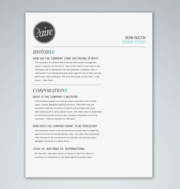 6 Best Images of Branding Design Proposal Sample - Graphic Design ...