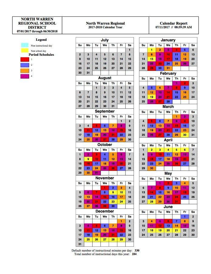 Rotating Drop Schedule - North Warren Regional School District