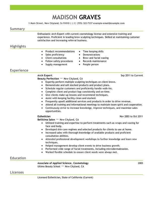 Cosmetology Resume. Cosmetology Resume Sample | Free Resumes Tips ...