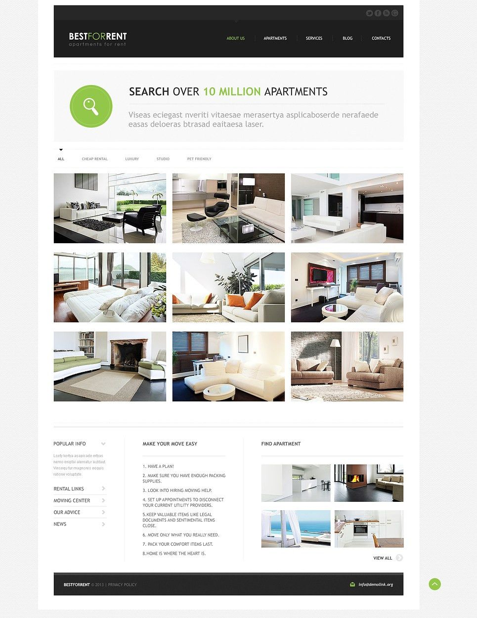 Apartments for Rent Joomla Template #46371