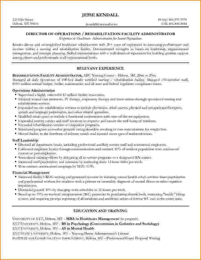 Download Healthcare Administration Sample Resume ...