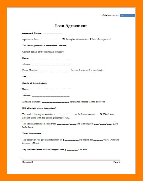 5+ loan agreement between individuals | service letters
