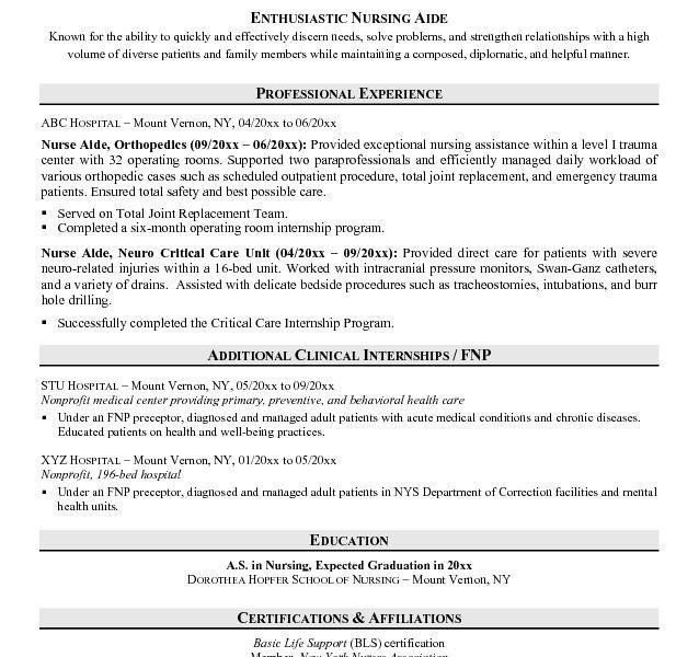 cna resume sample no experience example cna resume template