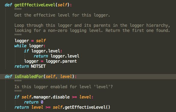 logging - Determining if root logger is set to DEBUG level in ...