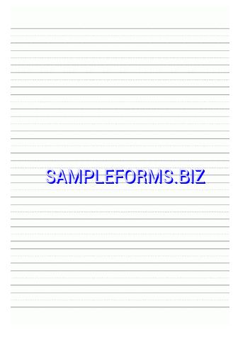 Handwriting Paper templates & samples forms