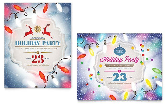 Office Christmas Party Invitations That Light Up the Holidays ...