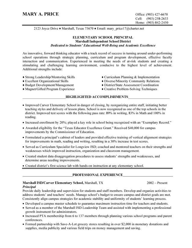 school administrator resume both pages of this administrator ...