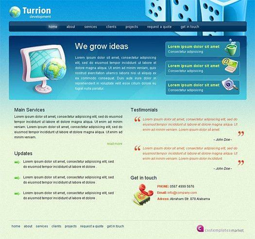 Free Website HTML/CSS Template: Turrion | Web Design Survivalist ...
