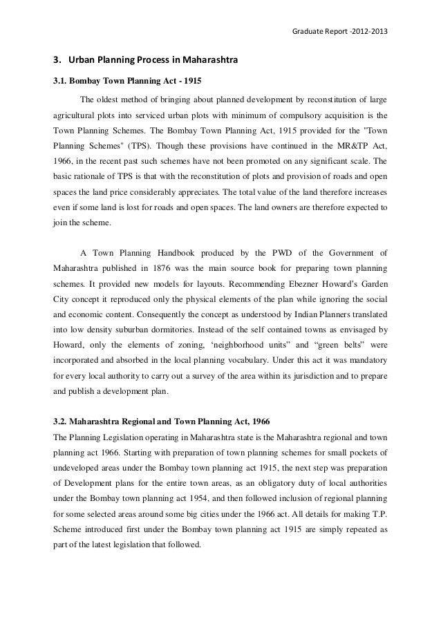Town Planning Act: Mahrashtra
