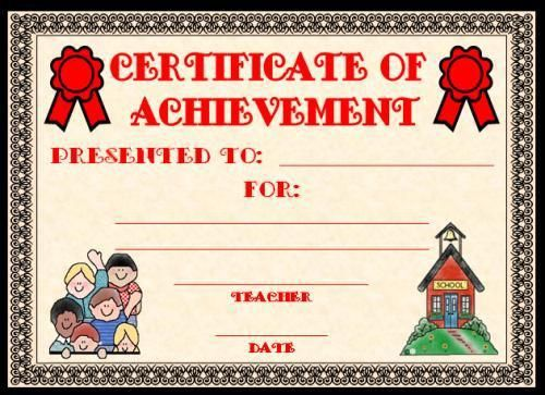 Outstanding Achievement Certificate Template is given to someone ...