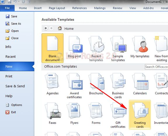 Create Greeting Cards for Free with Word 2010