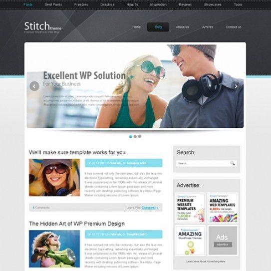 Stitch - HTML Template - Blog Style - Website Templates ...