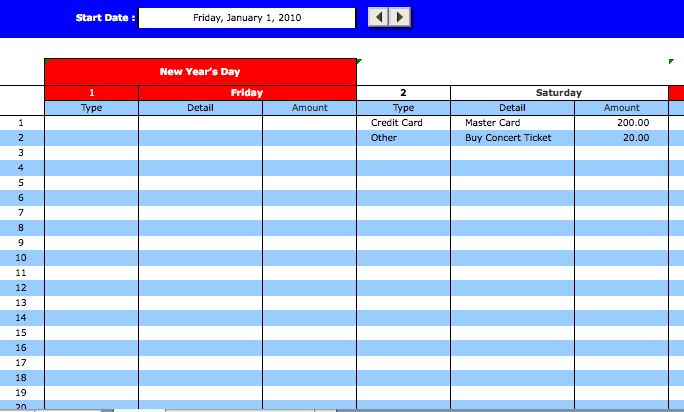 Organizer Excel templates | Microsoft Excel Templates