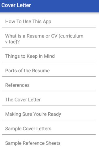 Cover Letter - Android Apps on Google Play