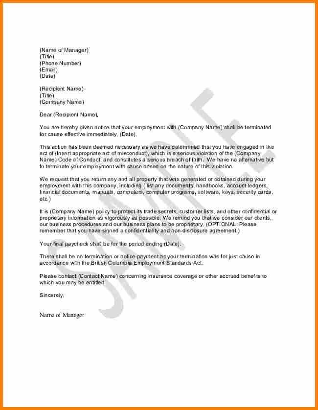 11+ example of termination letter | resume reference