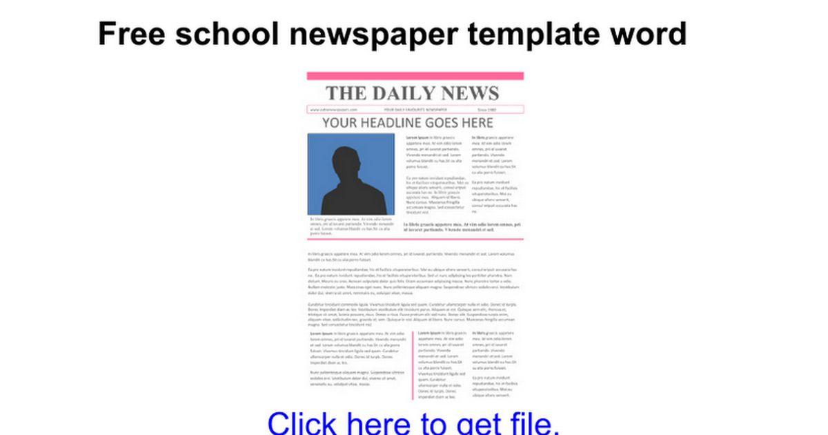 Free school newspaper template word - Google Docs