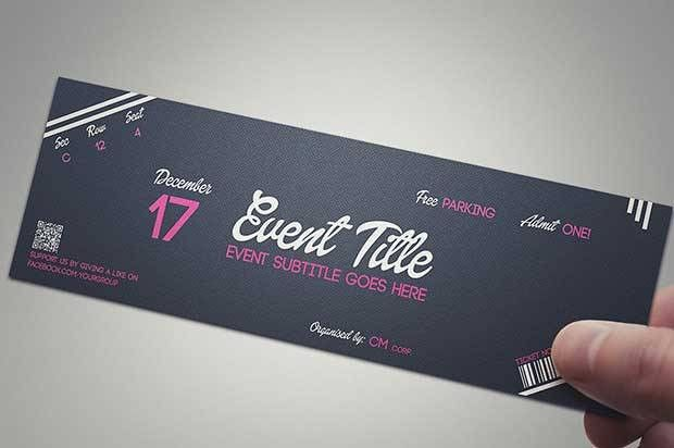 50+ Best Ticket Template PSD To Download For Your Events