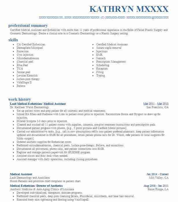Best Medical Assistant Resume Example | LiveCareer