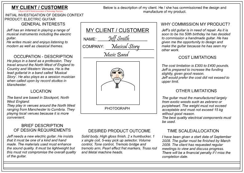 Client / Customer Profile Sheet