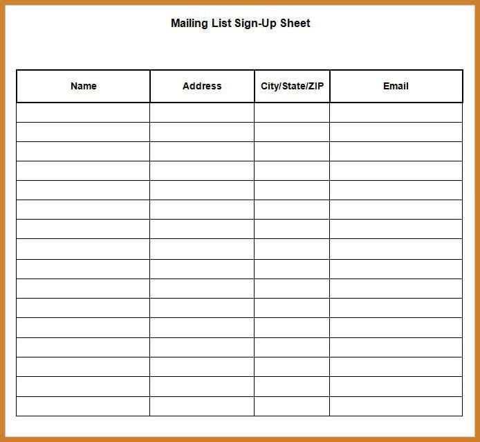 sign up sheet template word | notary letter