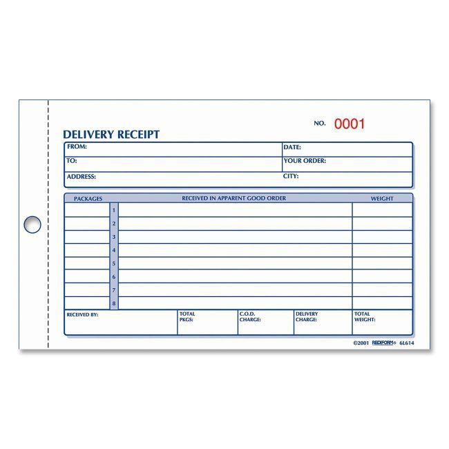 Rediform Delivery Receipt Book 2 Part by Office Depot & OfficeMax