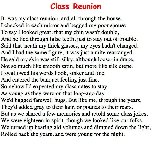This class reunion invite idea could work for several kinds of ...