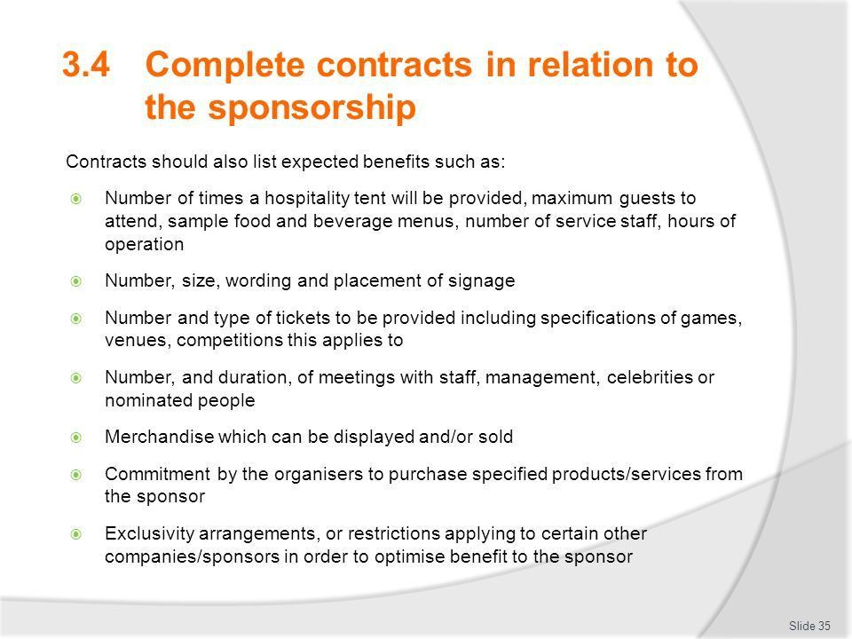 Develop, implement and evaluate sponsorship plans - ppt download