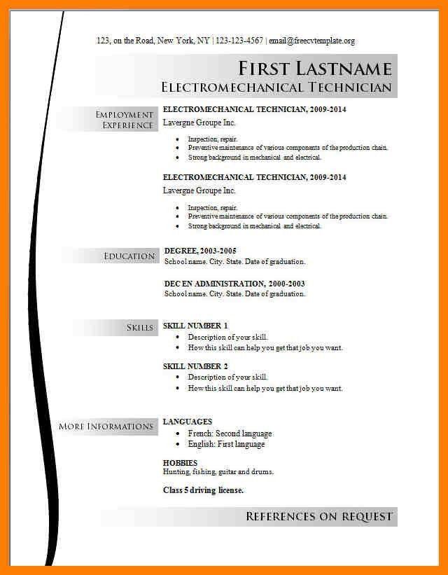 13+ free sample resume templates | xavierax