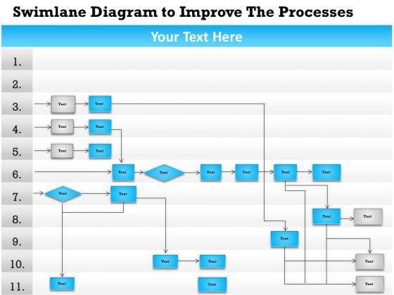 Swim lane PowerPoint templates, Slides and Graphics