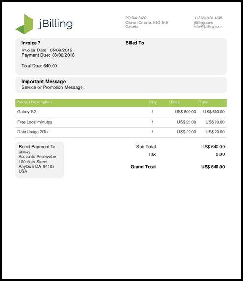 TE 4.1.0 Feature - Invoice Template Generator - jBilling